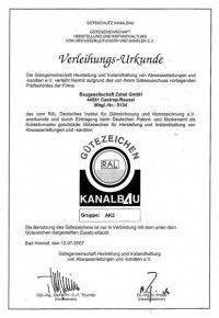 Gütegemeinschaft Herstellung und Instandhaltung von Abwasserleitungen und Kanälen e.V.