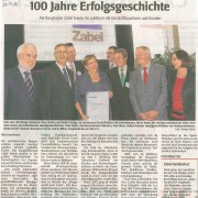 """WAZ, 24. September 2010 - """"100 Jahre Erfolgsgeschichte."""""""