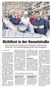 Richtfest Kesselstraße Zeitung