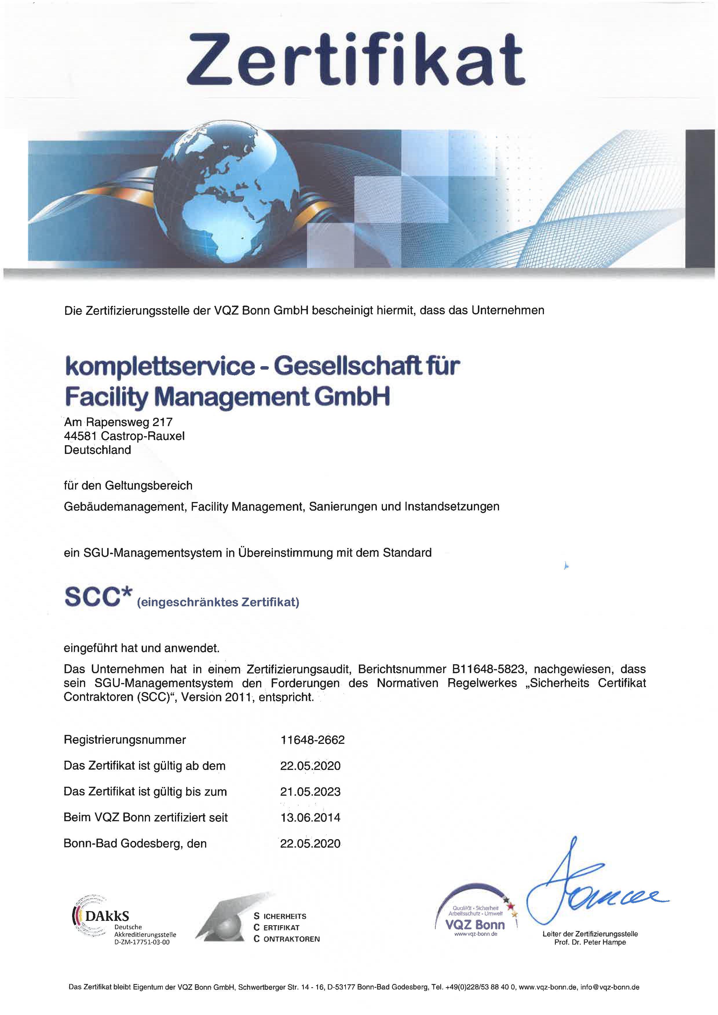 SSC Zertifikat komplettservice